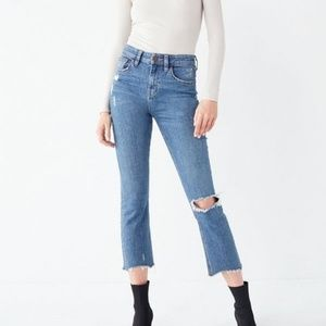 BDG Kick Flare High Rise Cropped Jeans Size 28